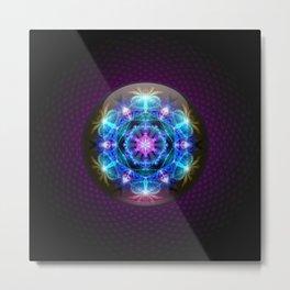 Fibonacci Flower Mandala Metal Print