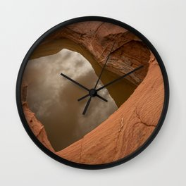 Natural Sandstone Heart - Valley_of_Fire State_Park, NV Wall Clock