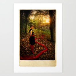 Lizzie Nunnery in the Garden 2 Art Print