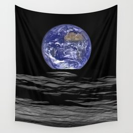 Earth from the moon Wall Tapestry