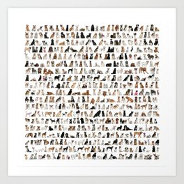 Dogs, Dogs and dogs Art Print