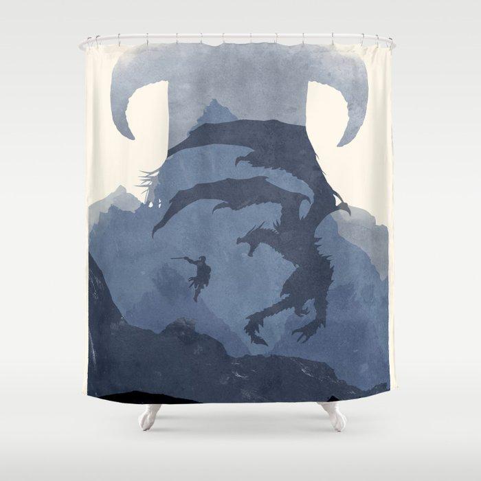Skyrim II Shower Curtain By Ryanswannick