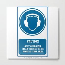 Head Phones - Anti Cool Metal Print