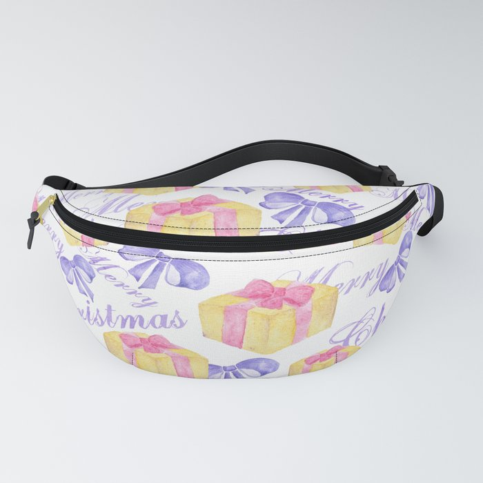 Merry Christmas Gift Pattern Fanny Pack