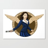 agent carter Canvas Prints featuring Agent Carter by Arania
