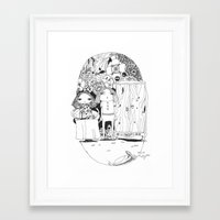 couple Framed Art Prints featuring Couple by Mono Ahn