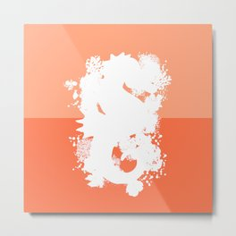 Seahorse Orange Metal Print