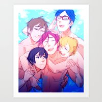 iwatobi Art Prints featuring Make Us Free by blue
