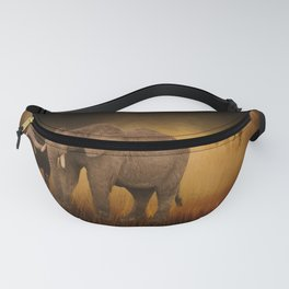Elephants In The Tall Grass Fanny Pack