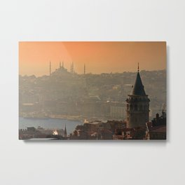 Galata Tower Metal Print