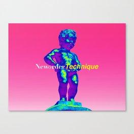 NewOrder Manneken Pis Technique Canvas Print