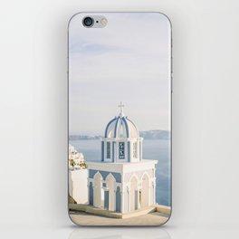 Pastel Blue Church iPhone Skin