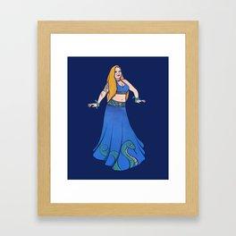 Harmony Belly Dancer Framed Art Print