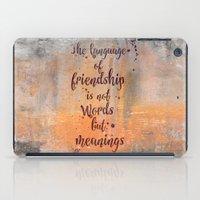 friendship iPad Cases featuring Friendship by LebensART
