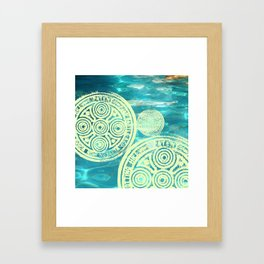 swimmingly three Framed Art Print