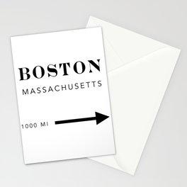 Boston Massachusetts City Miles Arrow Stationery Cards