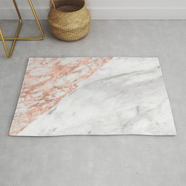 Massarosa Marchionne Bianco rose gold marble Rug