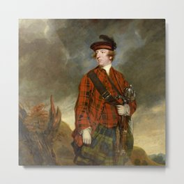 "Sir Joshua Reynolds ""John Murray, 4th Earl of Dunmore"" Metal Print"