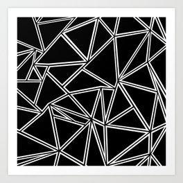 Shattered Ab Zoom Art Print