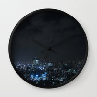 tokyo Wall Clocks featuring TOKYO by Olle Goto