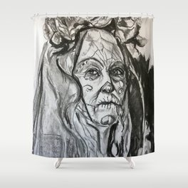 Study of woman Shower Curtain