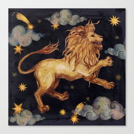 Zodiac sign Leo Canvas Print