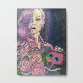 Muñeca Rosada Metal Print