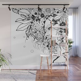 With Flowers in Her Hair No. 5 Wall Mural