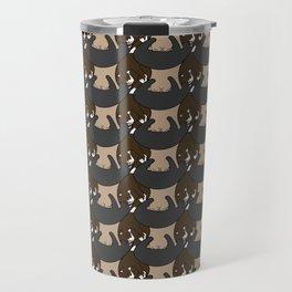cattellation I: browns & greys Travel Mug