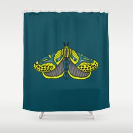 Hieroglyphic Moth Shower Curtain