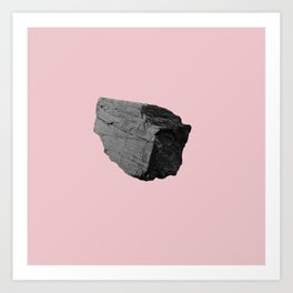 Pink Boulder Art Print