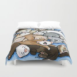 Wall to Wall Weasels Duvet Cover