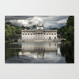 Pretty palace in Warsaw Canvas Print