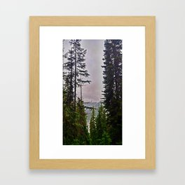 Misty Alpine View Framed Art Print