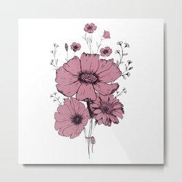 Dust pink bouquet Metal Print