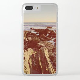 Jagged Shore Clear iPhone Case