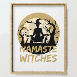 Namaste Witches Yoga Gift For Halloween Serving Tray