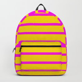 Canary Zebra Plays Piano Backpack