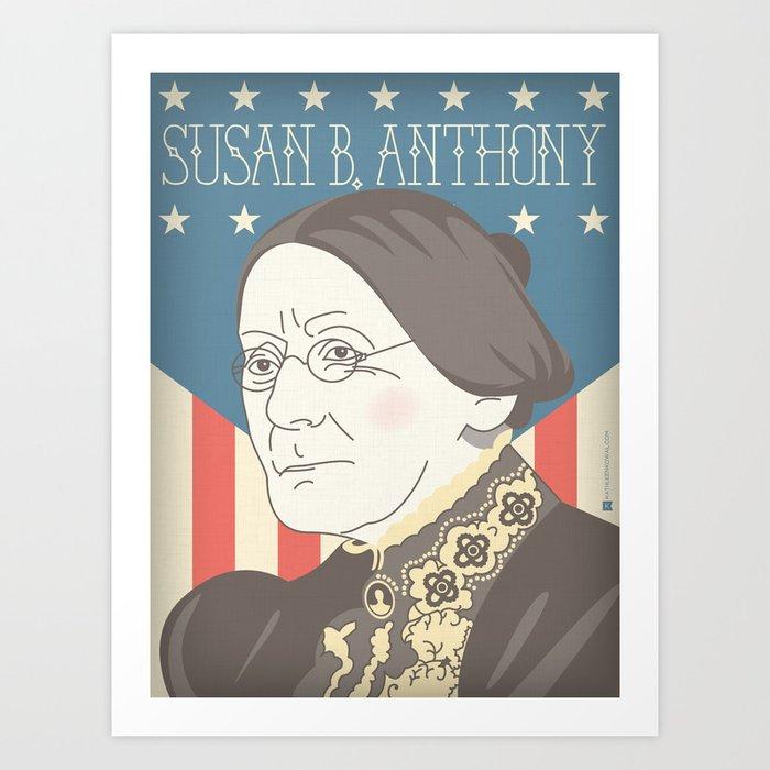 Susan B. Anthony Portrait Art Print