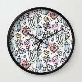 Gemstones Wall Clock