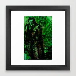 Afterlife Drawing - Green  Framed Art Print