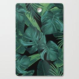 Tropical Summer Night Jungle Leaves Dream #1 #tropical #decor #art #society6 Cutting Board