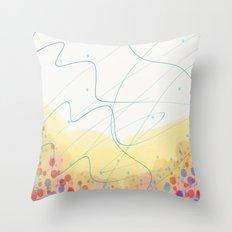 Waggle Dance Throw Pillow
