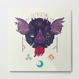Runic Bat Metal Print