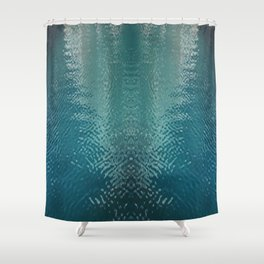 watery face Shower Curtain