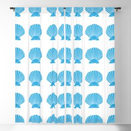 Blue Seashell Blackout Curtain