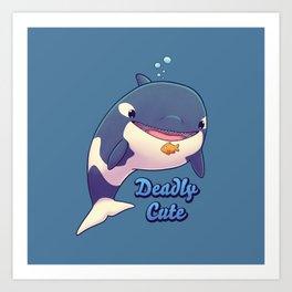 Deadly Cute Orca Art Print