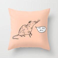 Rats Aren't Evil Throw Pillow