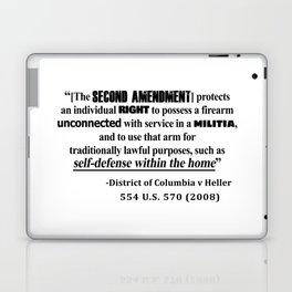 DC v Heller Second Amendment Case Law Laptop & iPad Skin