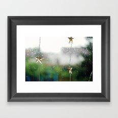 christmas on a rainy day Framed Art Print